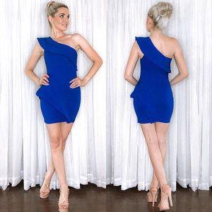 Blue Couture One Shoulder Dress Se Sang
